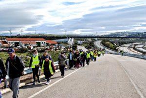 Marcha andando de la Asociación PLACEAT de Plasencia a San Gil