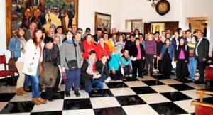 Visita de la Asociación PLACEAT de Plasencia a la Diputación de Cáceres
