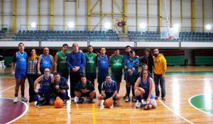 Partido de Baloncesto entre el Equipo A de la Asociación PLACEAT y el Equipo B