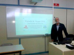El Presidente de PLACEAT en la X Escuela de Verano de la Liga Española de Educación