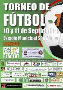 Cartel Torneo de Fútbol-7 a favor de Placeat y la Plena Inclusión de las Personas con Discapacidad Intelectual