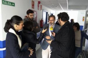 Visita del Alcalde de Plasencia a la Residencia de San Gil