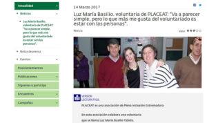 Plena Inclusión España publica una entrevista a la voluntaria de PLACEAT, Luzma
