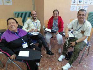 Autogestoras de PLACEAT en el 21 Encuentro de Autogestores de Extremadura, celebrado en Baños de Montemayor los días 17, 18 y 19 de Mayo