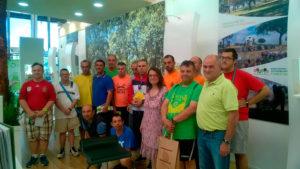 Los usuarios del Taller de Jardinería de PLACEAT, en la Feria IBER-Foresta