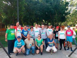 Marcha de PLACEAT para conseguir un defibrilador para el Colegio Ramón y Cajal de Plasencia