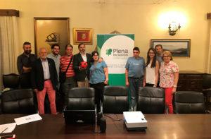 La Comunidad de Experiencias de Plasencia, integrada por jóvenes con y sin discapacidad, fue recibida por el Alcalde de Plasencia