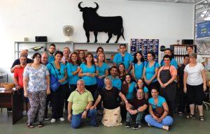 """17 alumnos de atención sociosanitaria de la Escuela Profesional """"Montijo te cuida"""", visitan las instalaciones de la Asociación PLACEAT en Plasencia."""