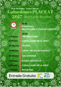 Programa Festival de Navidad 2017 - Asociación PLACEAT