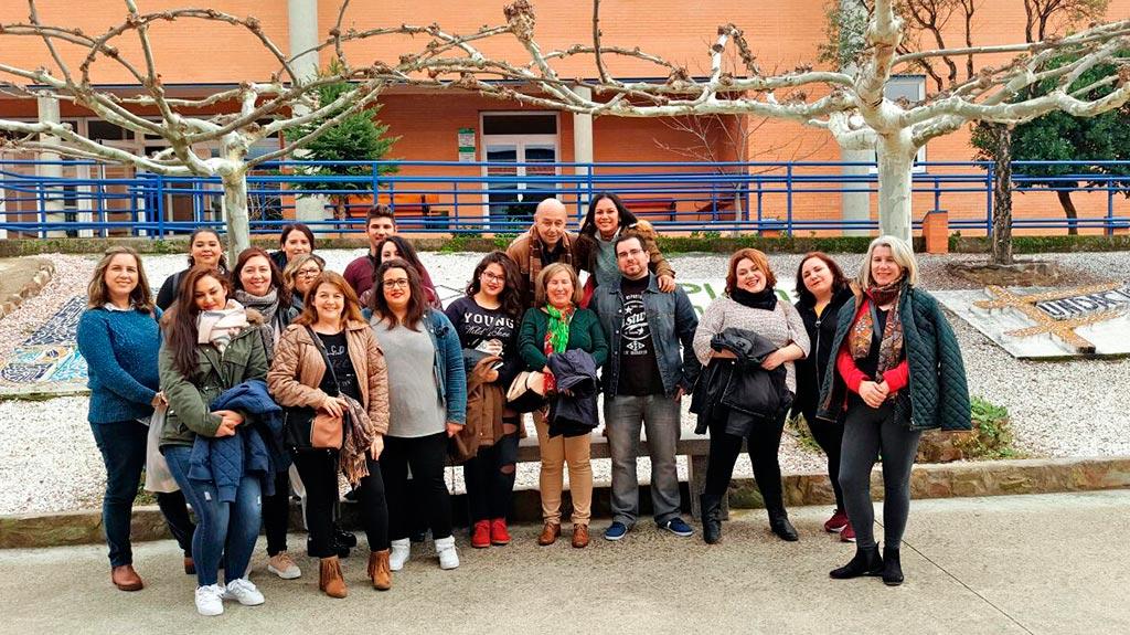 Visita de las alumnas del Programa SOLRECOR IV, de Solana de Los Barros