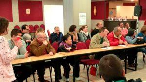 En la imagen, varios participantes del Encuentro, entre ellos Antonia y Tomás de Placeat
