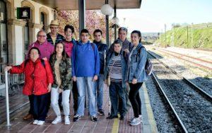 """Imagen de Grupo de los """"Periodistas"""" de PLACEAT en su viaje en tren a Cáceres"""