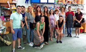 Visita del Curso de Promoción e Intervención Socioeducativa con Personas con Discapacidad, de Navalmoral de la Mata