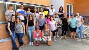 """Visita del Centro de Formación placentino """"A la Vera del Jerte"""" a la Asociación PLACEAT"""