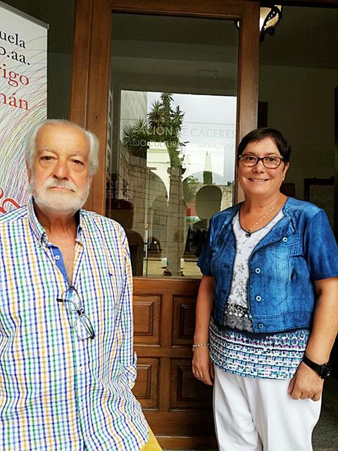 Nuestro Presidente acompañó a Mari Carmen a su nuevo puesto de Trabajo