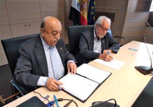 Nuestro Presidente en la Firma del Convenio ICACC - FUTUEX