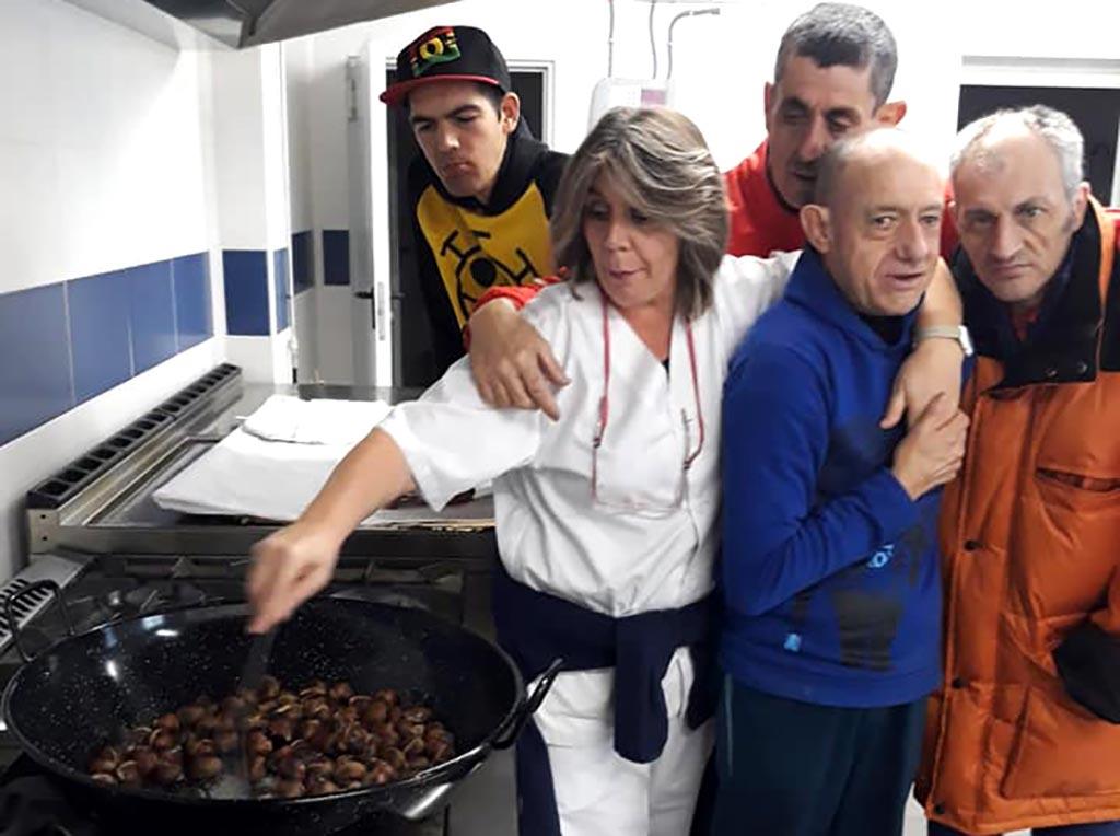 Asando las castañas en San Gil 2018