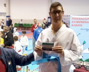 Ángel López en el XXXI Campeonato de Extremadura de Parakarate
