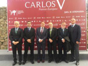 Imagen de Grupo con el Presidente de PLACEAT en los Premios Carlos V