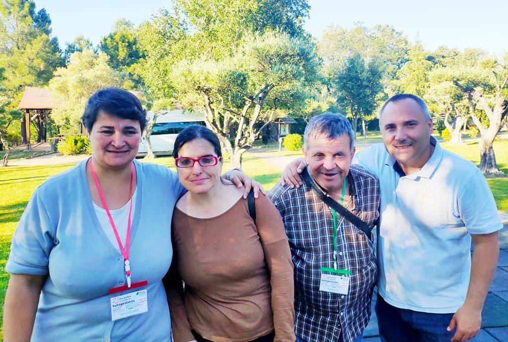 Foto de Grupo de los Autogestores de Placeat que han participado en el XXIII Encuentro de Autogestores de Extremadura