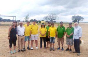 Componentes del Equipo de Golf de Placeat en el Campeonato de Extremadura de Golf Adaptado en Galisteo 2019