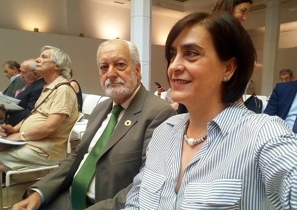En la foto, el Presidente y la Directora de la Fundación PLACEAT, durante la Asamblea de la AEF en Madrid