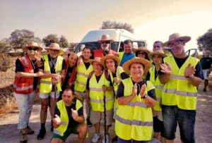 Imagen de grupo de la Tercera Etapa de la Marcha Andando por las Tierras de Trujillo