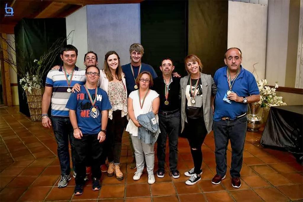 Foto de Grupo en el VI Encuentro del Deporte Adaptado Special Olympics Portugal