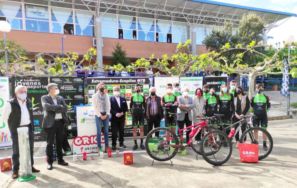 Presentación del Equipo Extremadura Ecopilas MTB Teams 2021